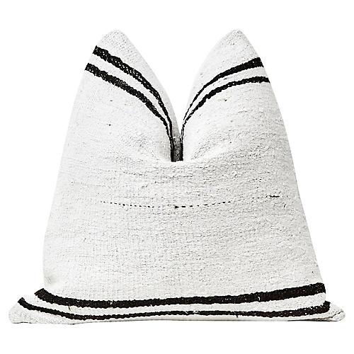 Natural & Black Berber Kilim Pillow