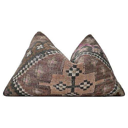 Berber Kilim & Linen Pillow