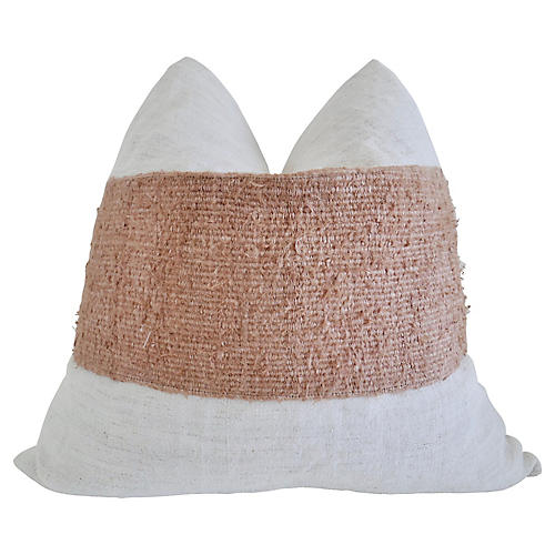 FI Blush Berber & Hemp Linen Pillow