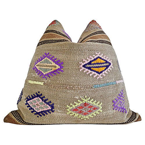 Berber Tribe Kilim Wool Rug Pillow