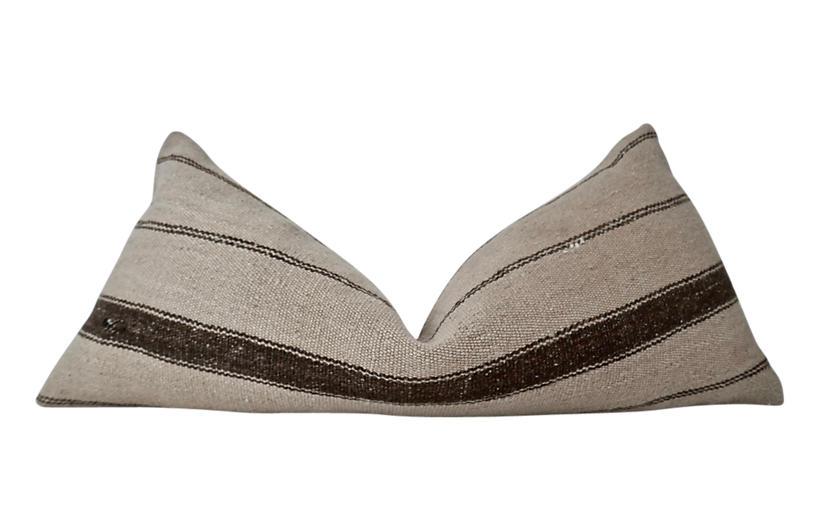 Vintage Berber Kilim Wool Body Pillow
