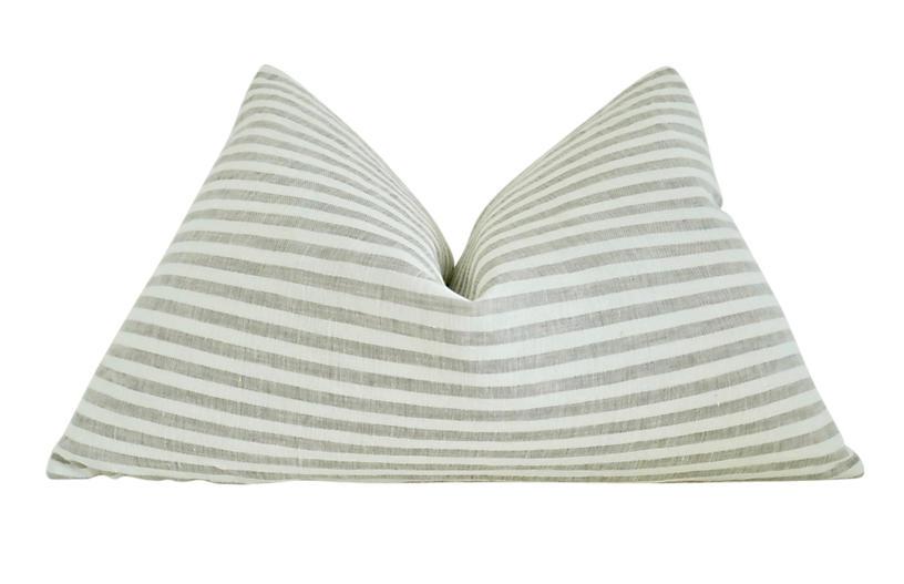 Native Organic Cotton Stripe Pillow