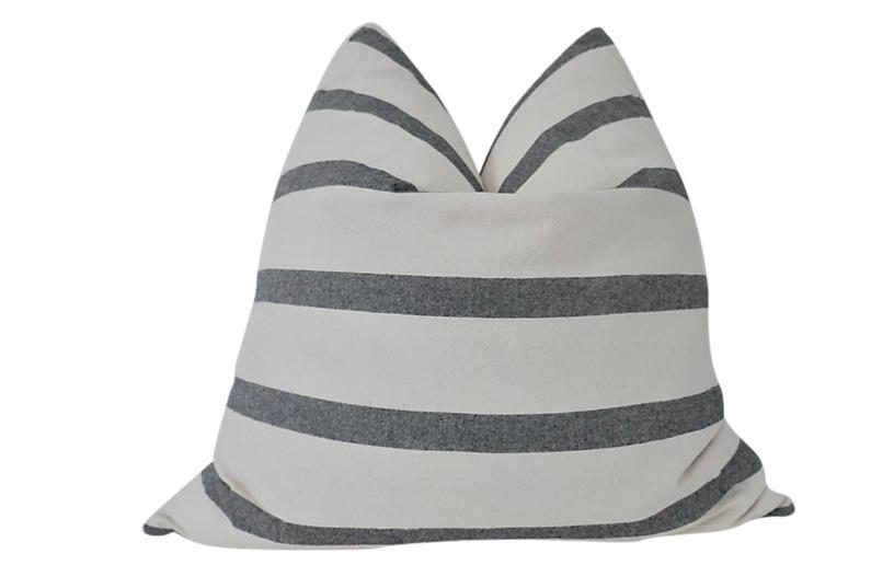 Organic Washed Cotton Stripe Pillow