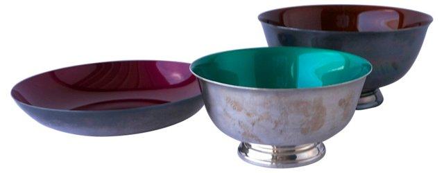 Reed & Barton Bowls, Set of 3