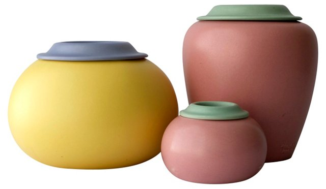 Pastel Vessels, Set of 3