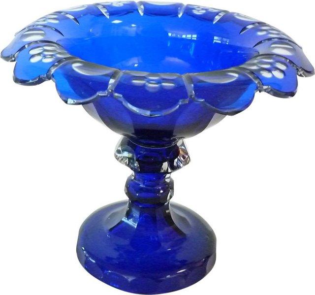 19th-C. Bristol Glass Compote