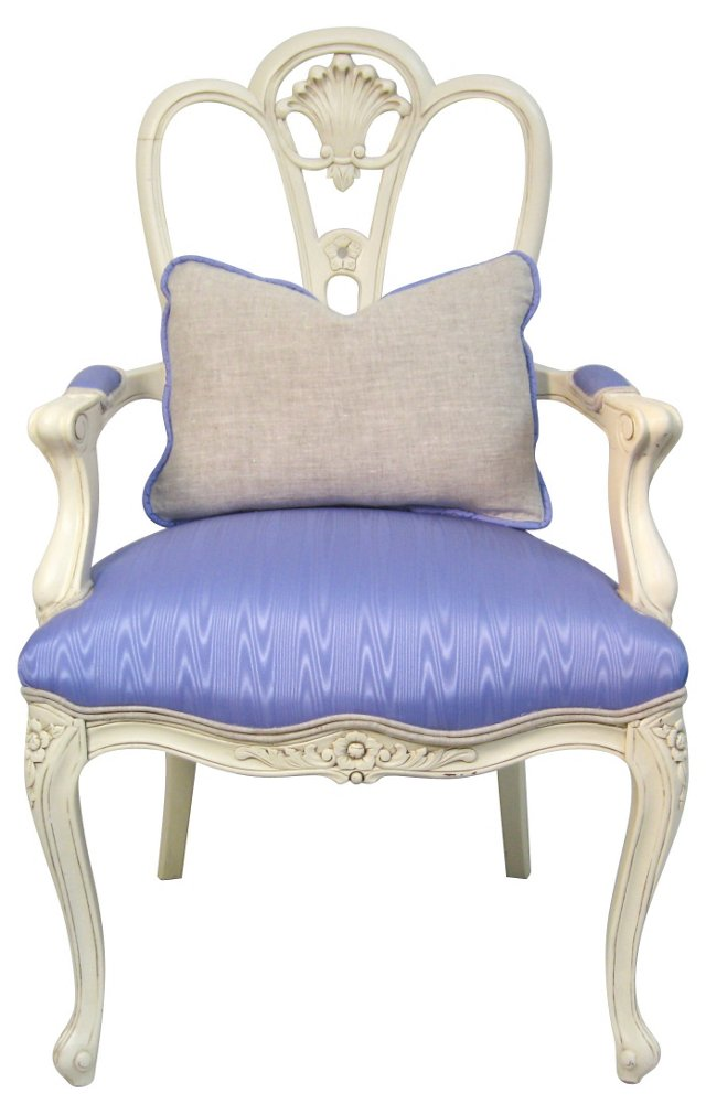 Lavender French-Style   Armchair