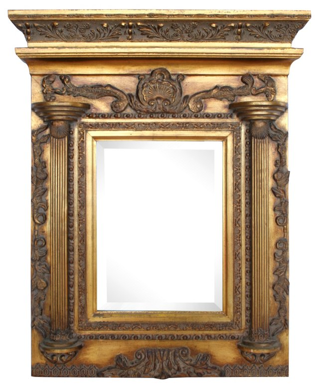 Giltwood Neoclassical-Style Mirror