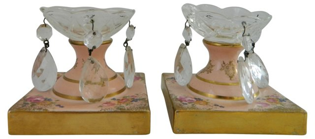 Antique French Candleholders, Pair
