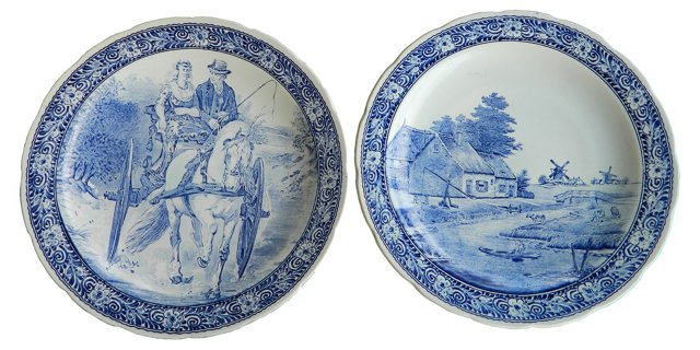 Delft Wall Plates, Pair