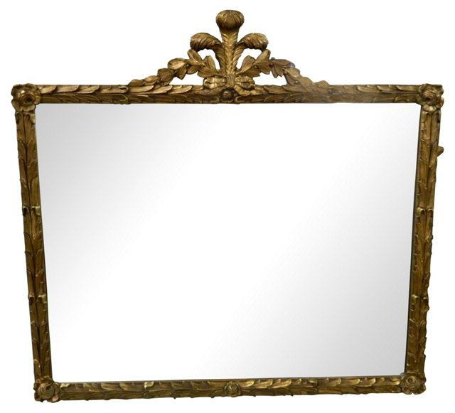 French Gilt Fleur-de-Lis Mirror