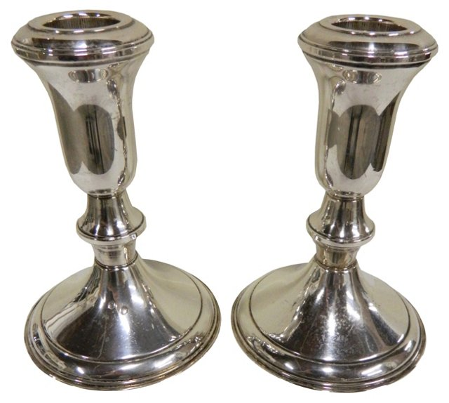 Lord Sterling Candleholders, Pair
