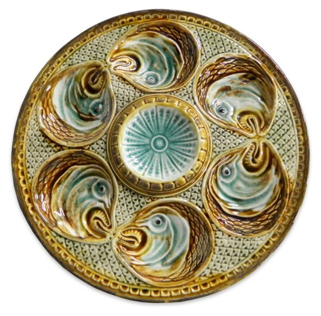 Majolica  Onnaing Oyster Plate