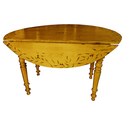 French Provençal Painted Table