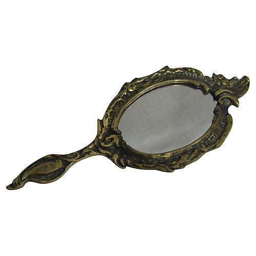 Antique French Boudoir Mirror