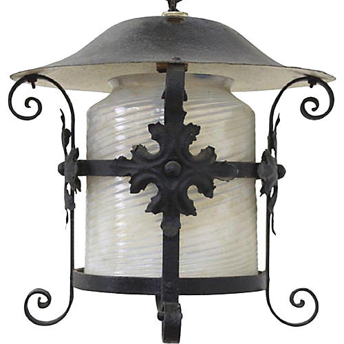 Arts & Crafts Wrought Iron Lantern