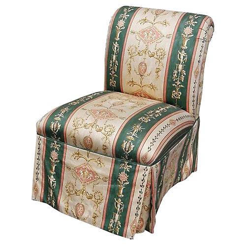 French Napoleon III Cherub Slipper Chair