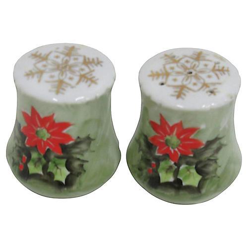 Poinsettia Salt & Pepper Shakers
