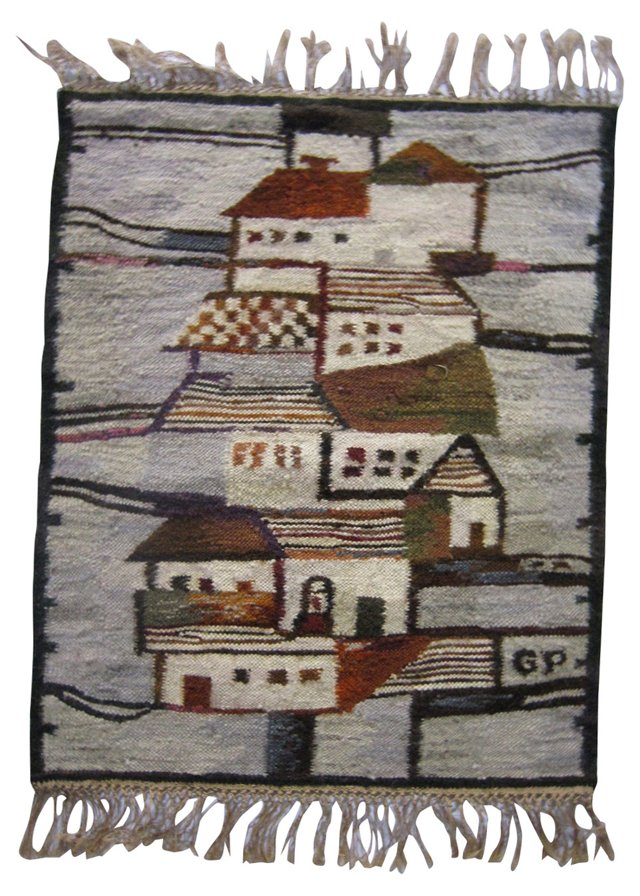 Midcentury Danish Wall Tapestry, Signed
