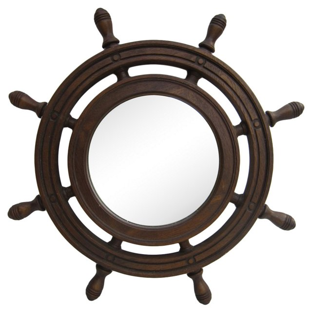 Ship's Wheel Mirror