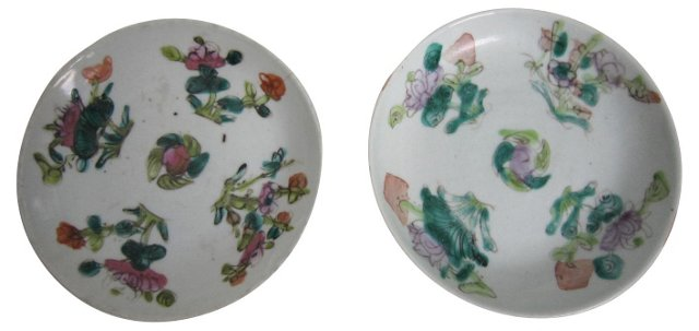 Chinese Export Trays, Pair