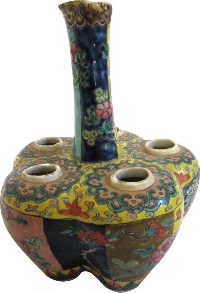 Chinese Rose Famille Vase