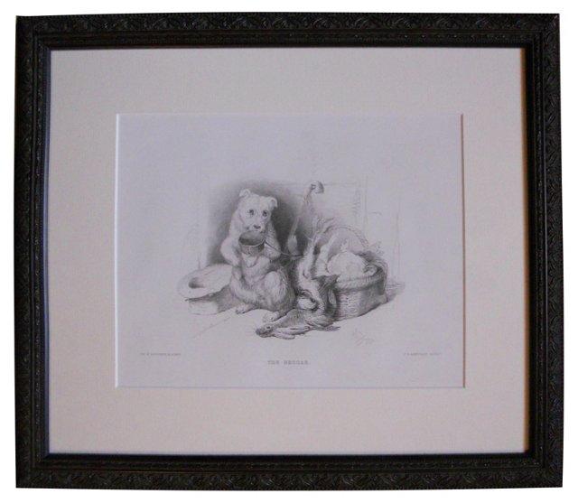 1880s Edwin Landseer Engraving