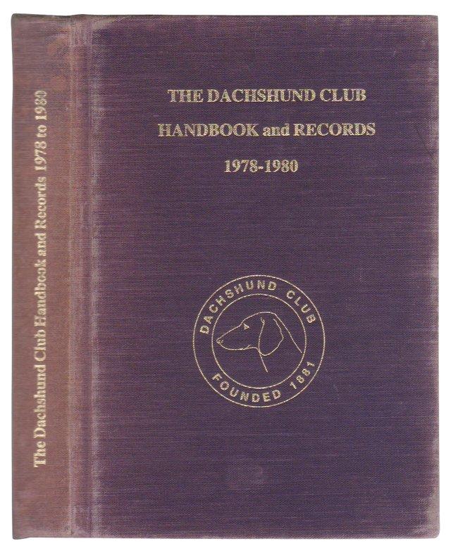 The Dachshund Club Handbook & Records