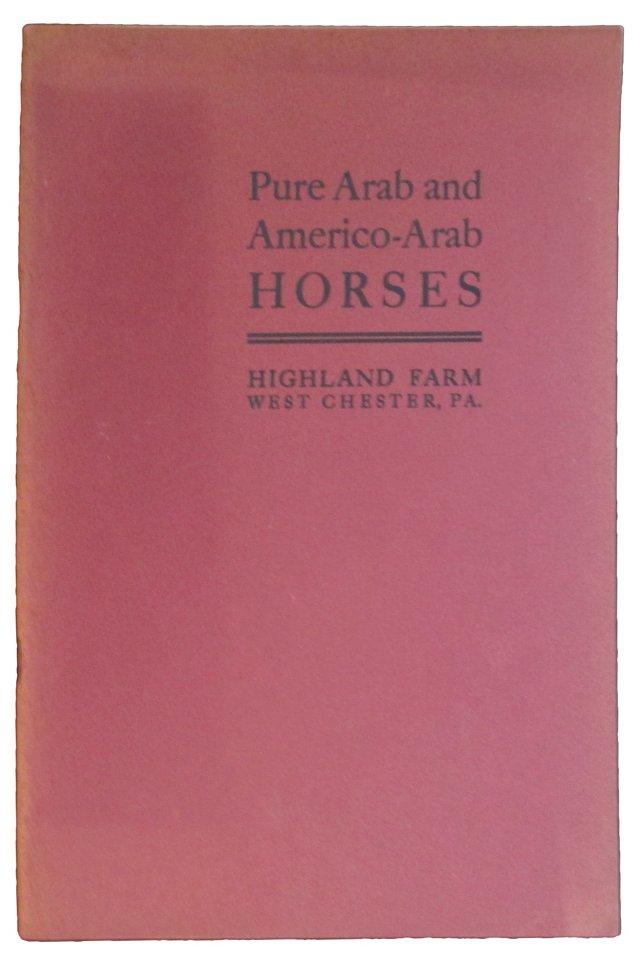 1908 Sales Catalog for Arabian Horses