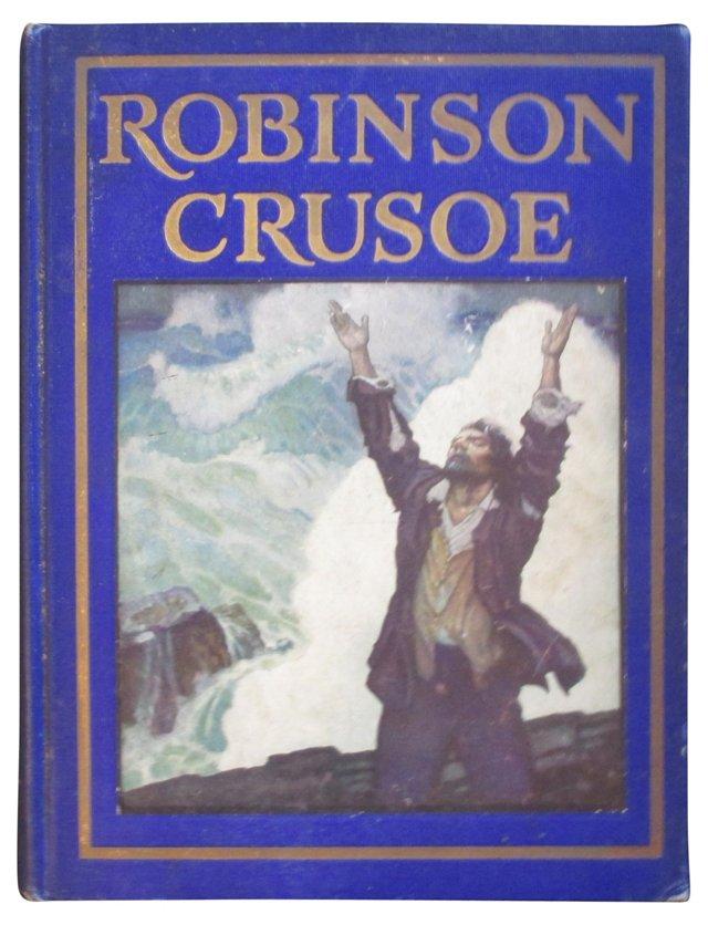 Robinson Crusoe,Wyeth 1st Edition