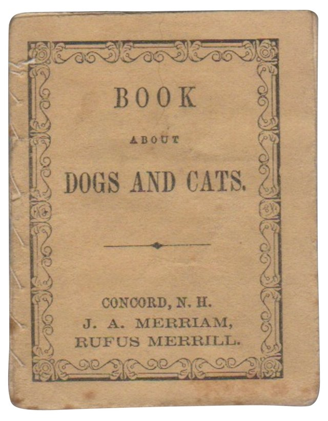 Dogs & Cats Miniature Book, C. 1850