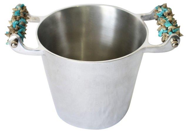 Pewter Seashell  Ice Bucket