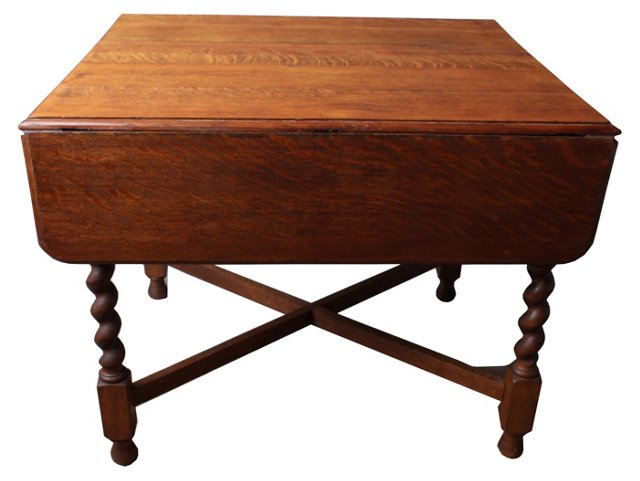19th-C.  Oak Dining Table