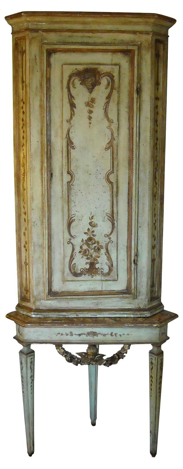 18th-C. Italian Corner Cabinet