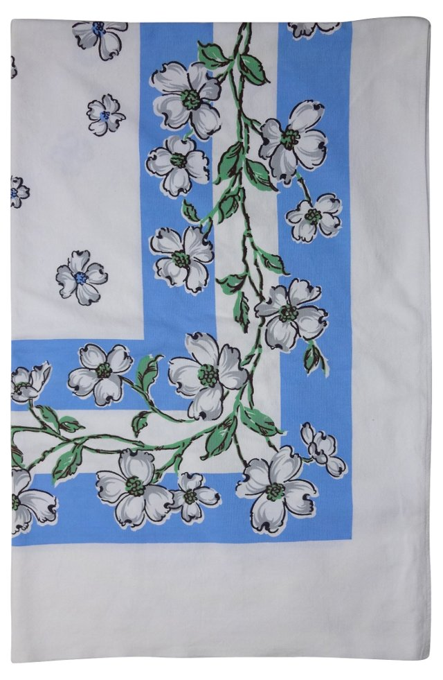 Midcentury Dogwood Tablecloth