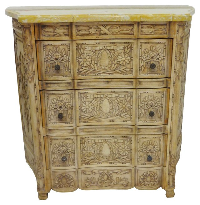 19th-C.   French Carved Chest