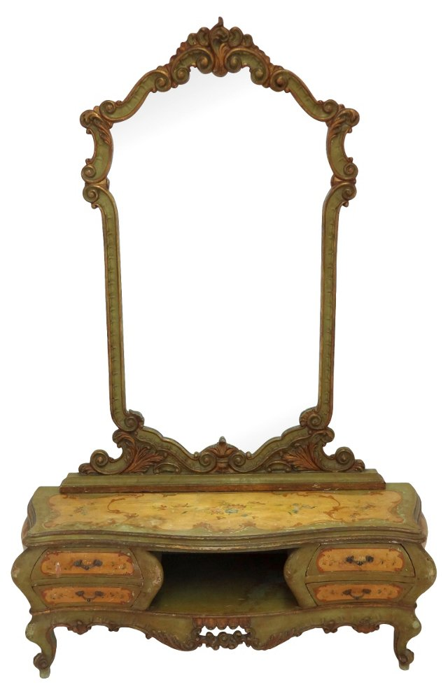 Painted Dressing Table w/ Mirror