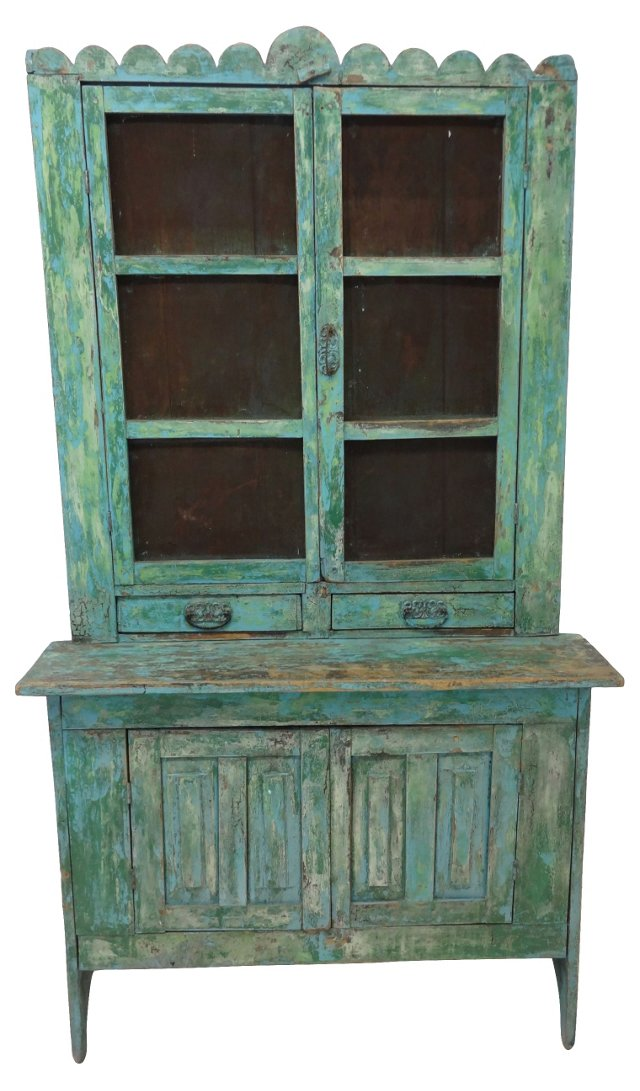 Antique Country Stepback Cupboard
