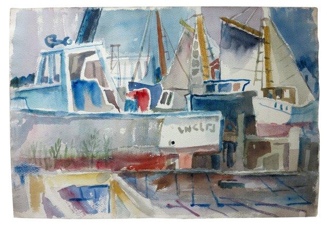 Gloucester Dock       Watercolor