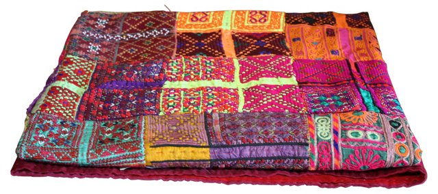 Afghani Hand-Embroidered  Quilt