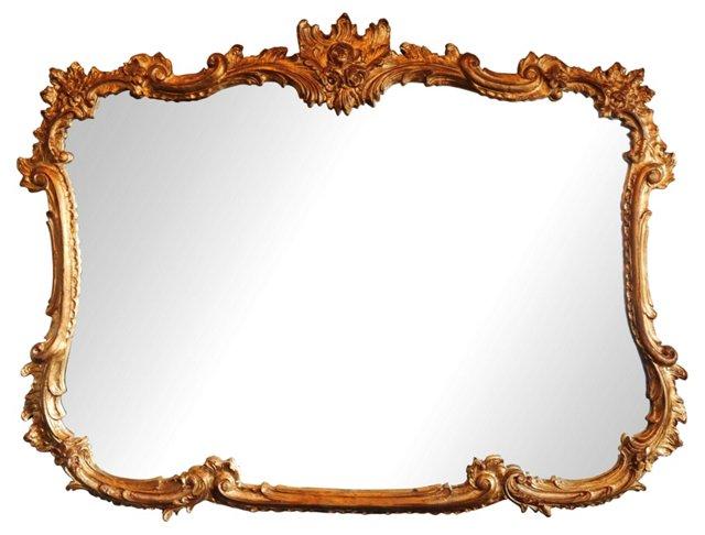 Ornate Gold Leaf Mirror