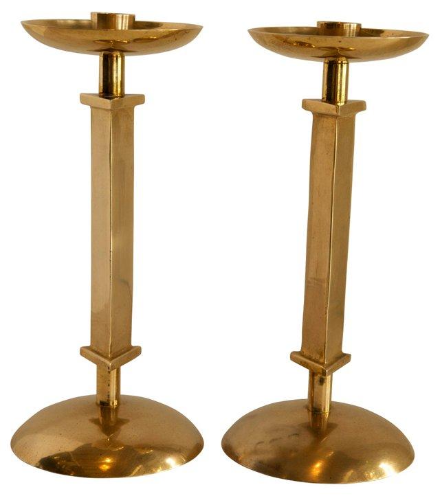 Brass  Candlesticks, Pair