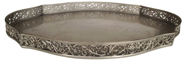 Silver Reticulated Perfume Vanity Tray
