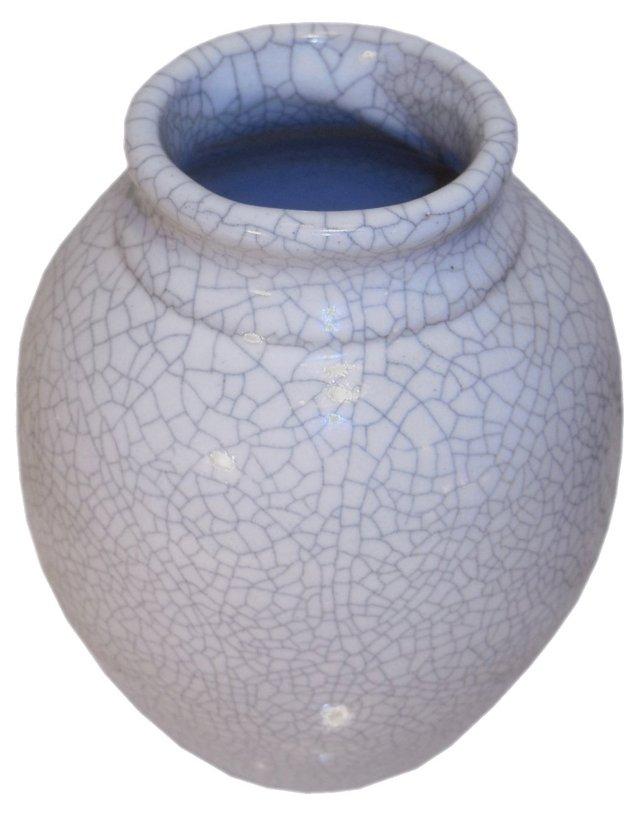 Bluish-Gray Crackle Glazed Vase