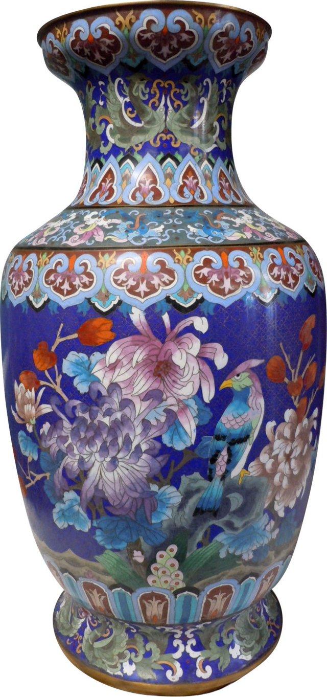 Extremely Large Cloisonné Temple Vase