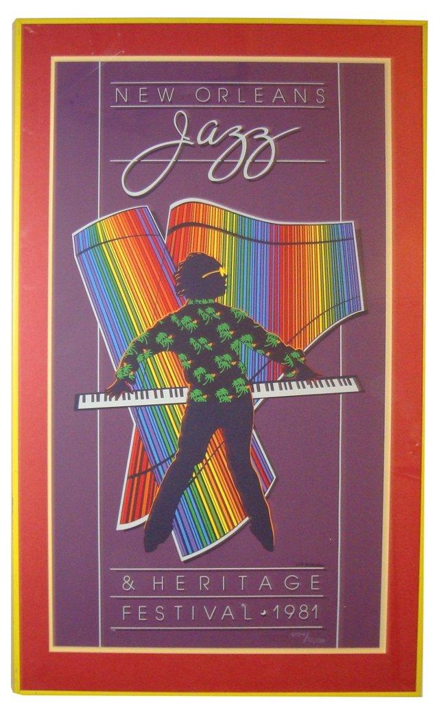 New Orleans Jazz Festival Poster, 1981