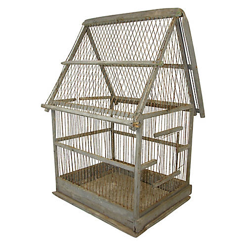 19th-C. French Birdcage