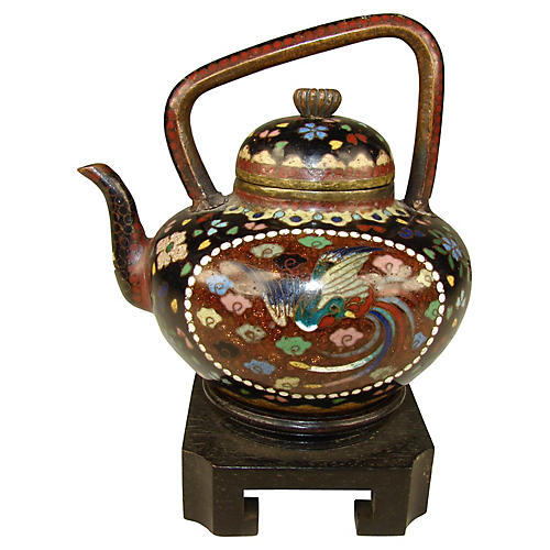 Chinese Cloisonné Teapot