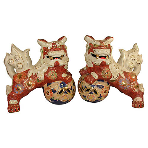 Large Pair Of Japanese Foo Dogs