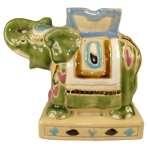 Ceramic Elephant Vase